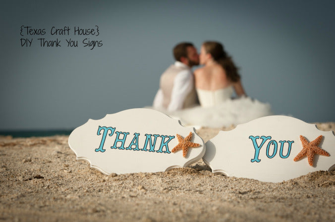 Wedding Photo Shoot Thank You Signs