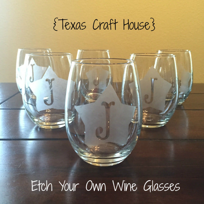 Custom Etch Your Own Wine Glasses