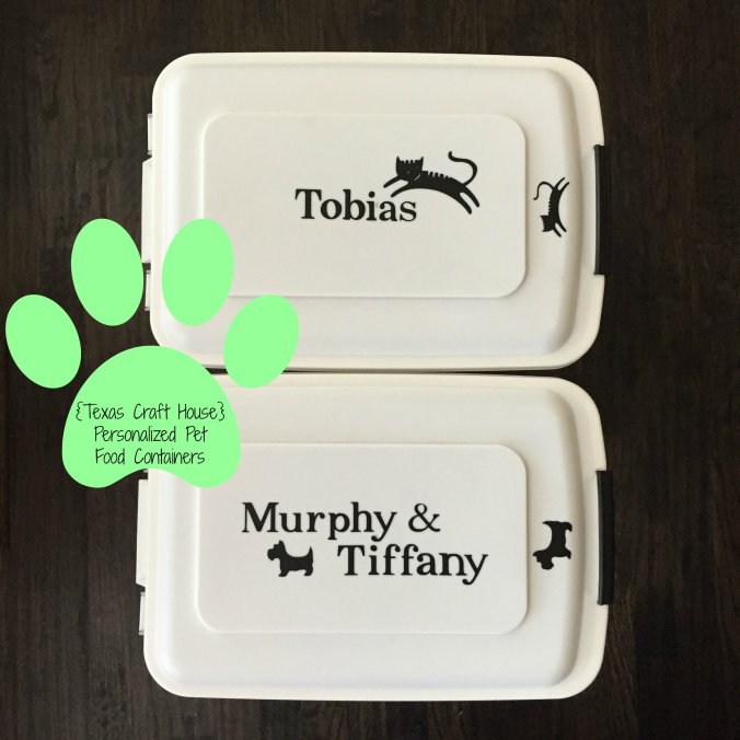 Personalized Pet Food Containers