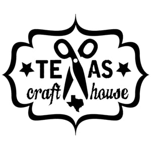 Texas Craft House where the X is replaced with a pair of scissors