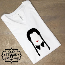 Load image into Gallery viewer, Wednesday Addams Halloween Adult T Shirt
