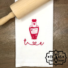 Load image into Gallery viewer, Custom Valentine's Day Flour Sack Tea Towel