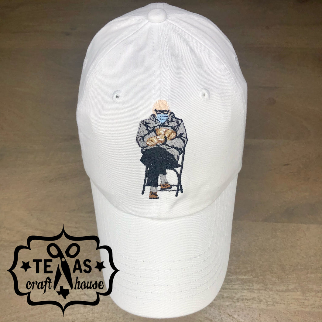 Bernie in Mittens Monogram Baseball Hat