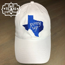 Load image into Gallery viewer, Pony Up Southern Methodist U Inspired Texas Monogram Baseball Hat