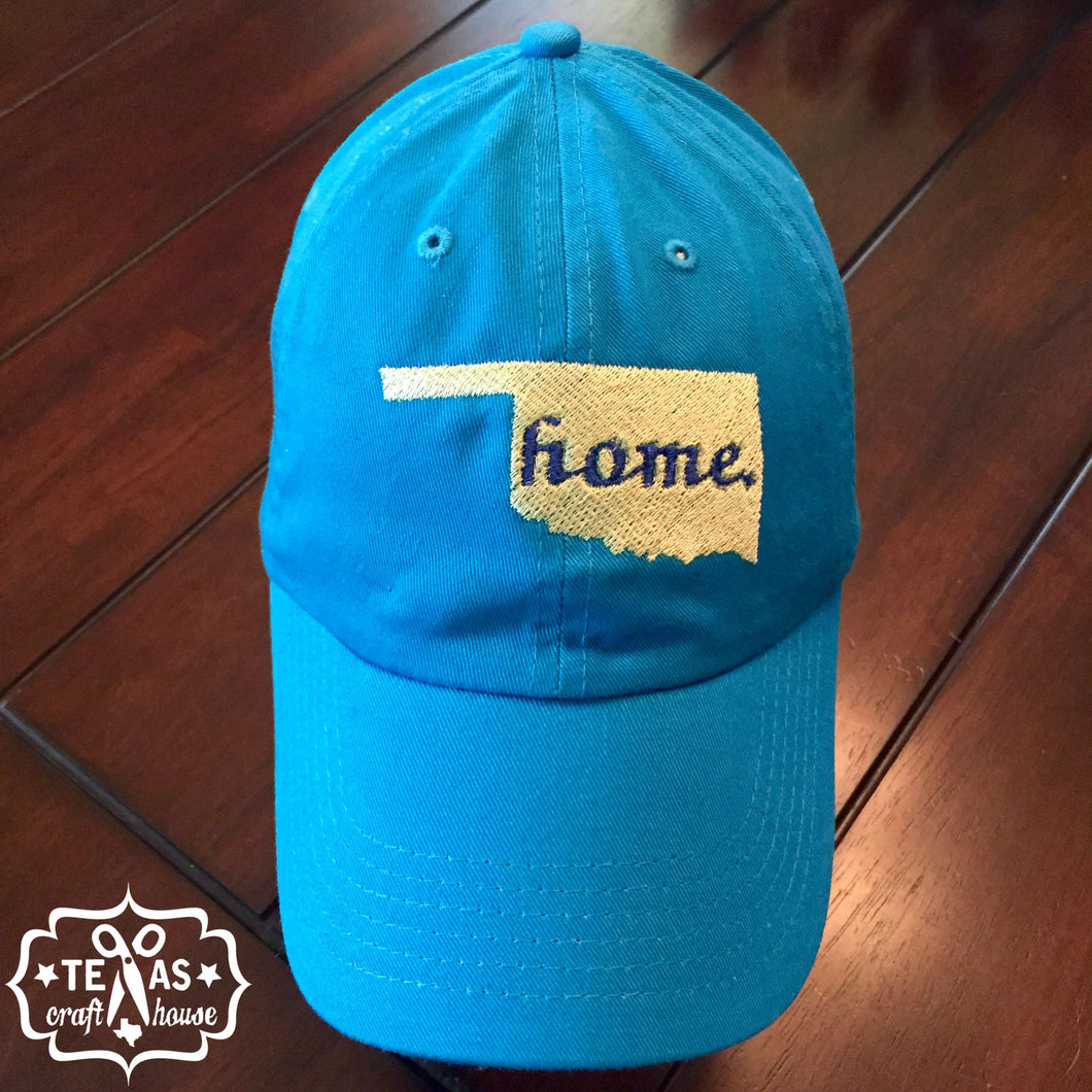 Home State Monogram Baseball Hat