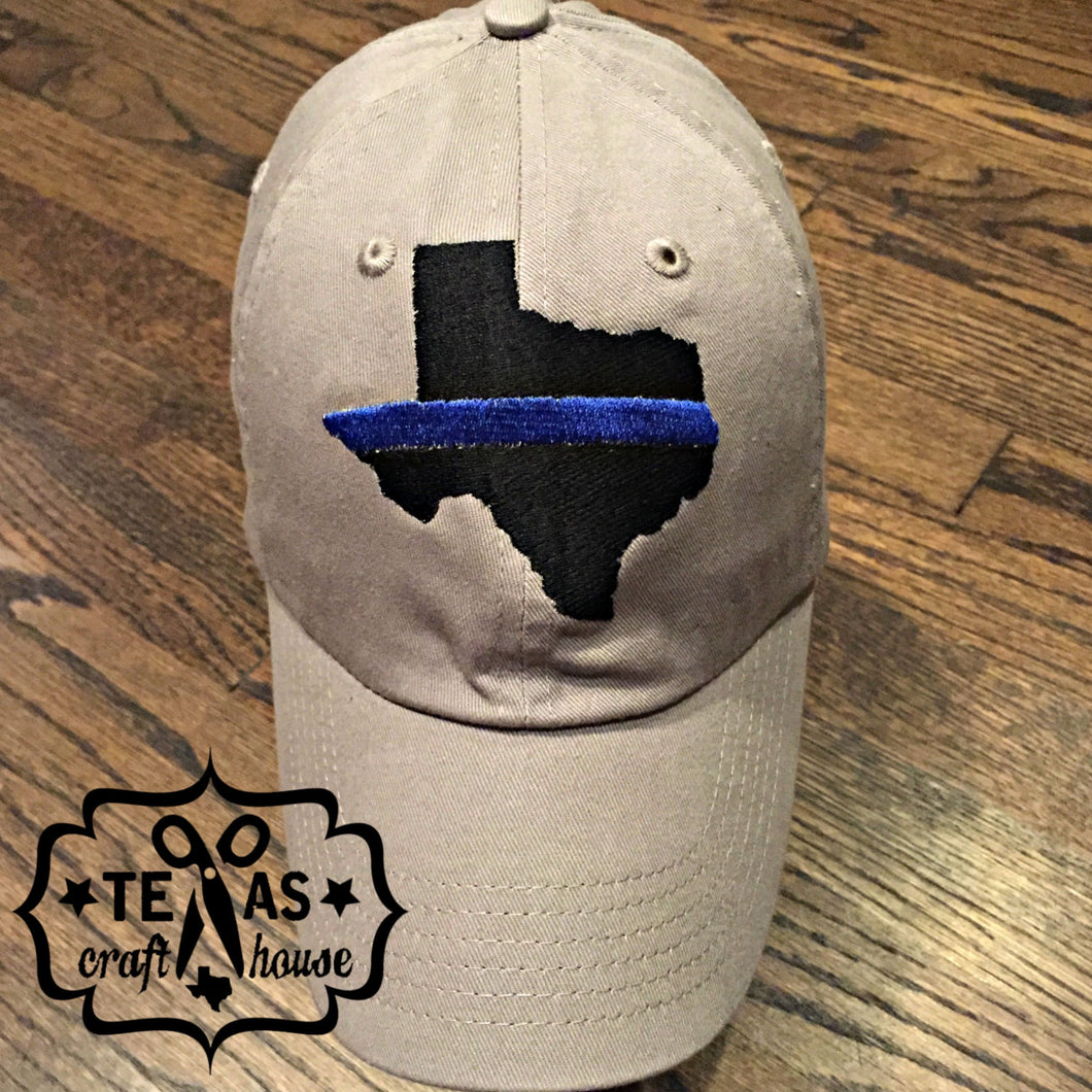 Back the Blue Texas Embroidered Baseball Hats