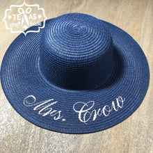 Load image into Gallery viewer, Custom Monogram Last Name Beach Sun Hats - Personalized Sun Hat - Monogrammed Sun Hat - Sun Hat