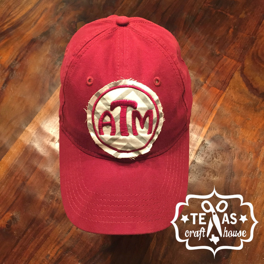 A&M Inspired Monogram Patch Baseball Hats