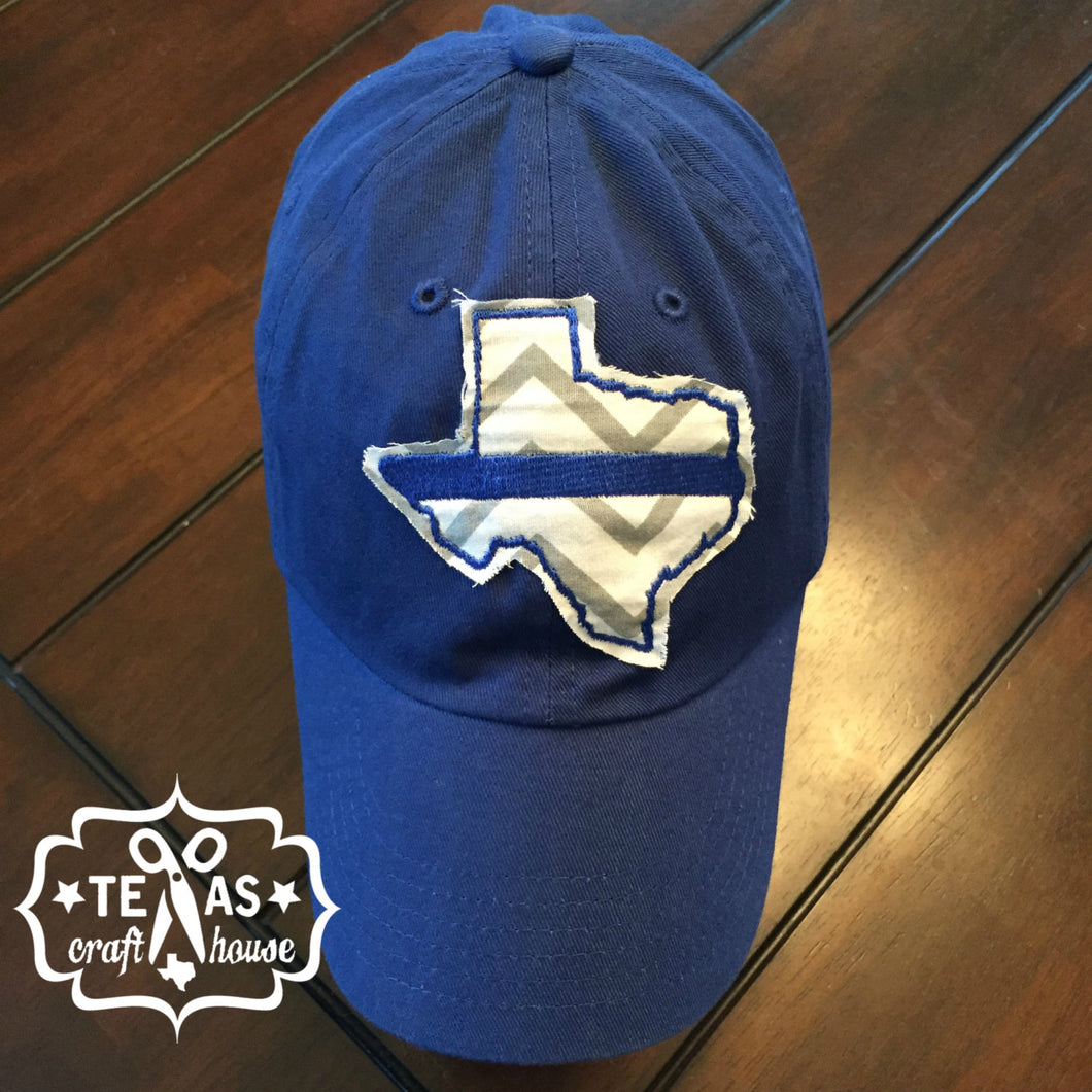 Back the Blue Texas Patch Baseball Hats