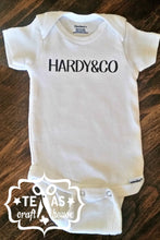 Load image into Gallery viewer, Personalized Bodysuit Custom Made with Last Name and Co