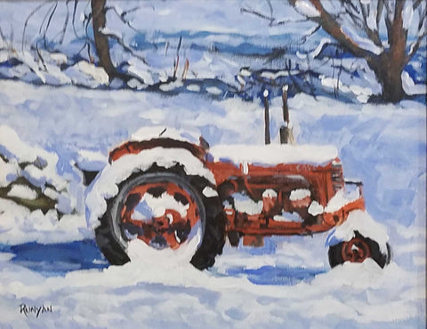 "Title: A Case For Winter Artist: Douglas Runyan Medium: Acrylic  Size: 11"" x 14"", framed 18"" x 21"""