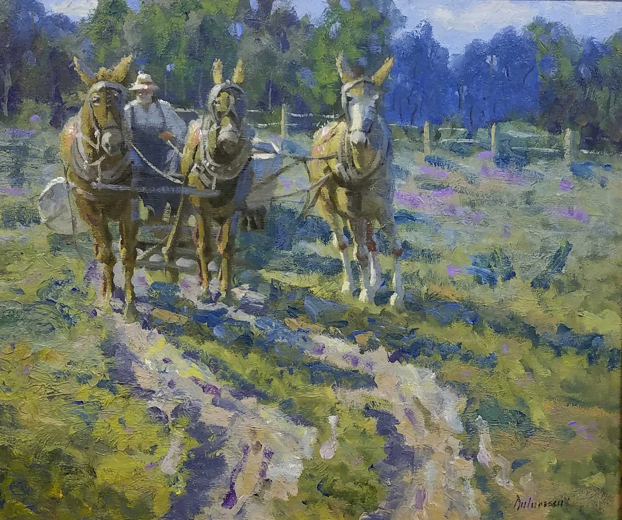 Across The Field Oil Painting by Fred Doloresco