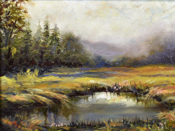 "Painting: After The Storm Artist: Susan Ahbe Medium: Oil   Size: 22"" x 18"", framed"