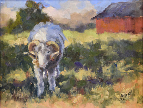 Painting: An Historic Breed Artist: Chris Newlund Medium: Oil on Linen  Size: framed