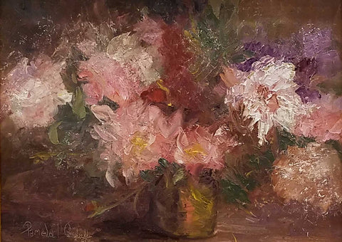 "Title: Arrangement Artist: Pamela Campbell Medium: Oil  Size: 12"" x 16"" Framed"
