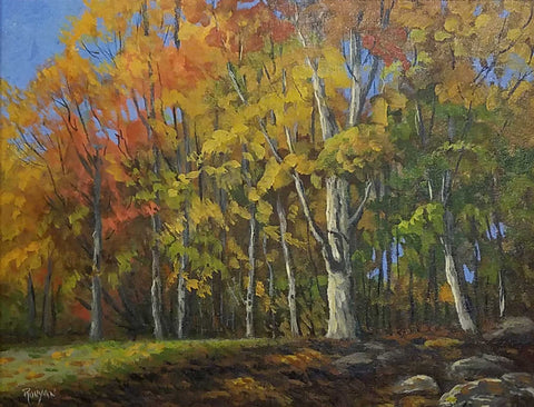 "Title: Autumn Colors Artist: Douglas Runyan Medium: Acrylic  Size: 16"" x 20, framed"