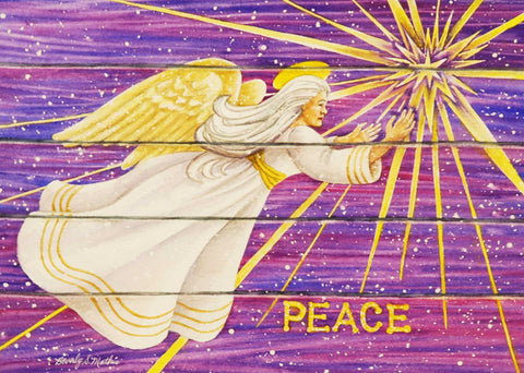 Painting: Peace Angel Artist: Beverly S. Mathis Medium: Watercolor