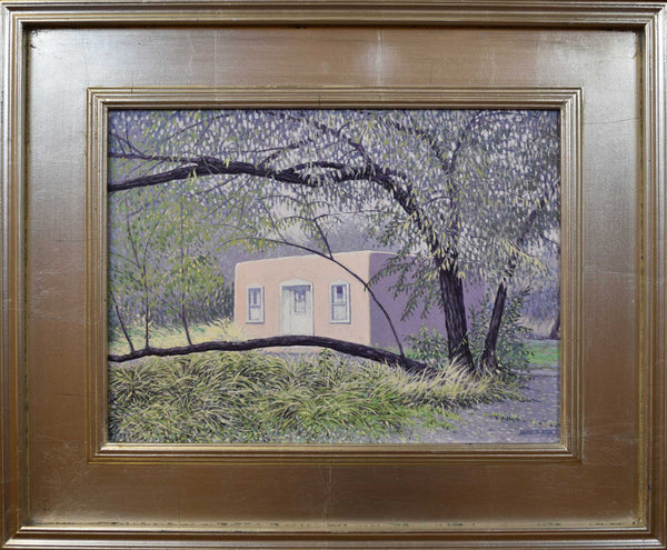 "Title: Casita on the Embudo, Dixon, New Mexico Artist: James Tracy Medium: Oil On Panel  Size: 19"" x 23"", framed"