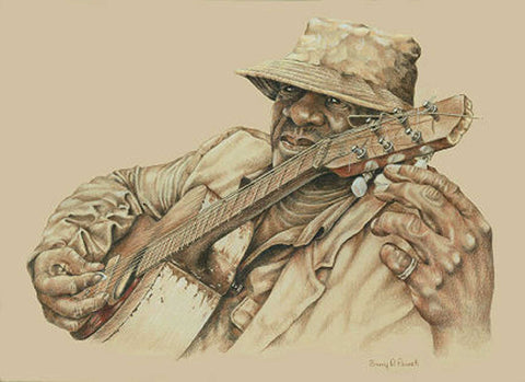 Title: Close Enough For Jazz Artist: Barry Powell Medium: Colored Pencil Size: framed