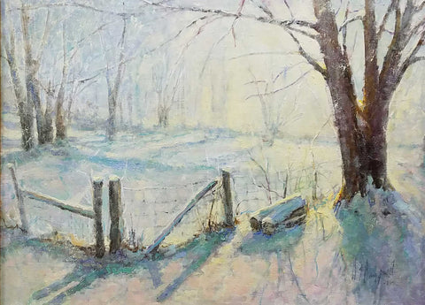 "Painting: Cool Morning Artist: Wayne Campbell Medium: Oil   Size: 18"" x 24"", framed"