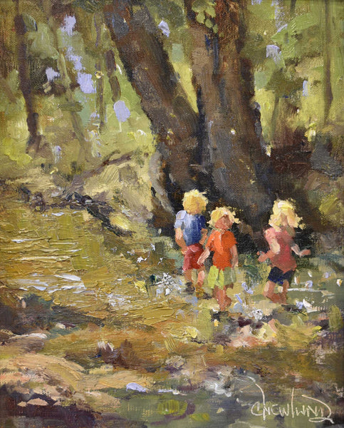 Painting: Creek Walk Artist: Chris Newlund Medium: Oil on Linen  Size: framed