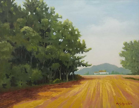 "Painting: Empty Field Artist: Michael Schrader Medium: Oil   Size: 20"" x 24"", framed"