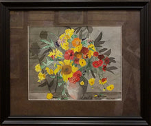Load image into Gallery viewer, Title: Flower Study 1 Artist: Thomas Tuley Medium: Watercolor Size: Framed
