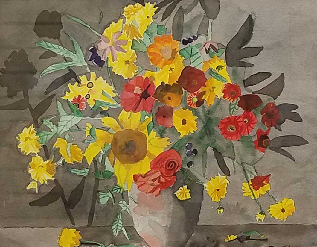 Title: Flower Study 1 Artist: Thomas Tuley Medium: Watercolor Size: Framed