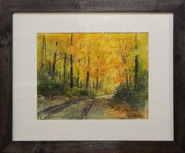 "Painting: Following The Colors Artist: Dale L. Popovich Medium: Watercolor  Size: 18.5"" x 22.5"", framed"