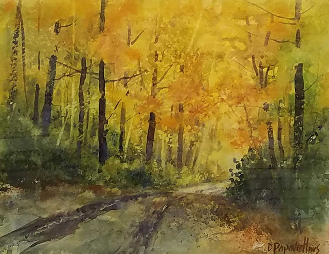 Painting: Following The Colors Artist: Dale L. Popovich Medium: Watercolor  Size: 18.5