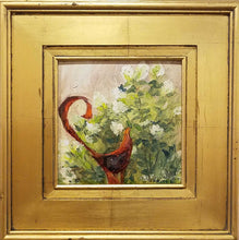 Load image into Gallery viewer, Title: Garden Sculpture Artist: Nancy Maxwell Medium: Oil  Size:  Framed