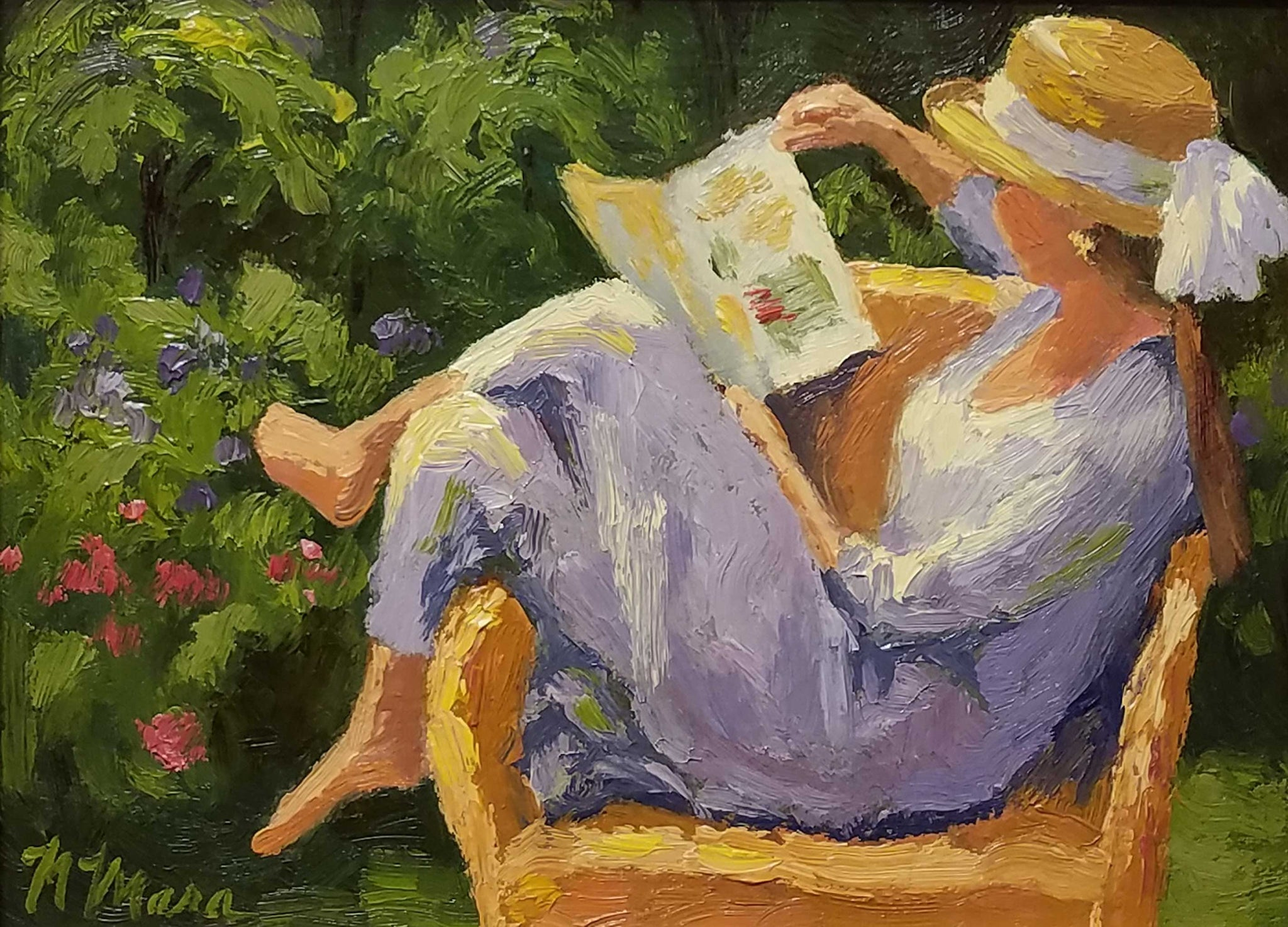 Title: Girl Reading Artist: Norene Mara Medium: Oil  Size: Framed