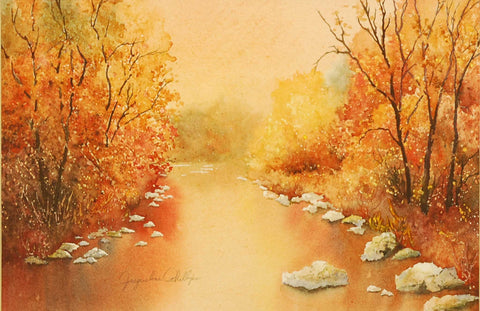 Painting: Brown County At It's Finest Artist: Jacqueline Phillips Medium: Watercolor