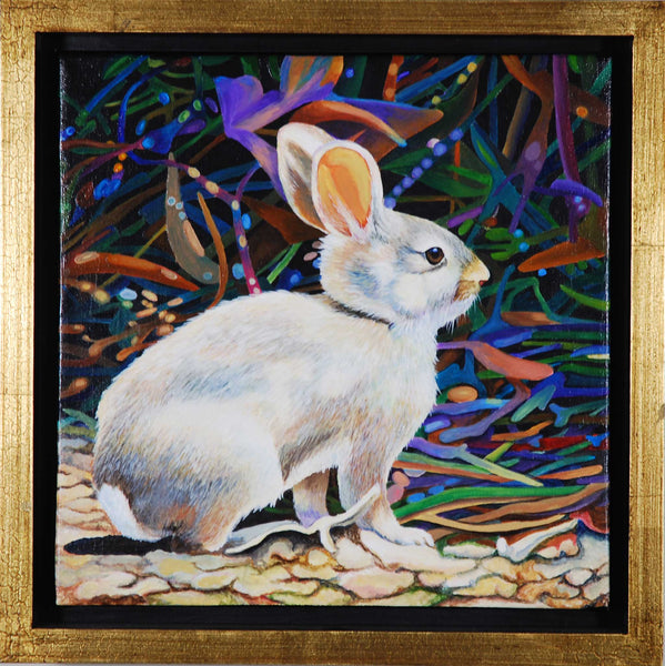 "Title: Eye On The Thicket  Artist: Jennifer Fox  Medium: Oil and Acrylic  Size: 12"" x 12"", framed"