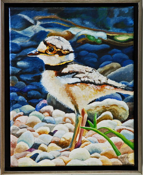 "Title: ""First Spring Venture"" Artist: Jennifer Fox  Medium: Oil and Acrylic Size: Framed"