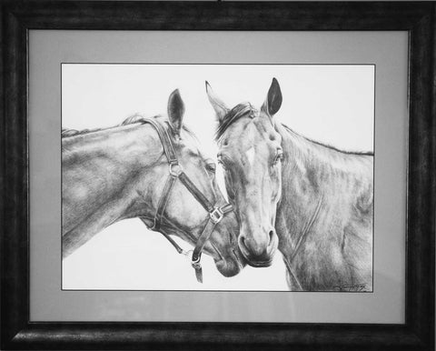 "Title: Sweet On Her Artist: Jennifer Fox  Medium: Graphite On Canson Size: 16"" x 22"", framed"