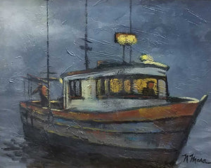Title: Night Run Artist: Norene Mara Medium: Oil  Size: Framed