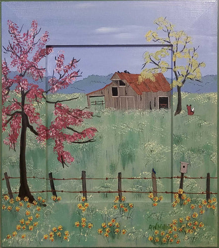 Painting: Old Barn on McClary Road Artist: Amanda W. Mathis Medium: Acrylic Size: Painted frame