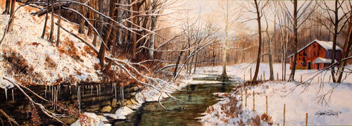 Title: Open Water in Winter Artist: Stephen Edwards Medium: Watercolor  Size: 17