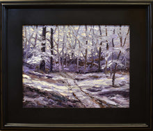 "Load image into Gallery viewer, Painting: Patterns of Winter Artist: Susan Ahbe Medium: Oil   Size: 20"" x 16.5"", framed"
