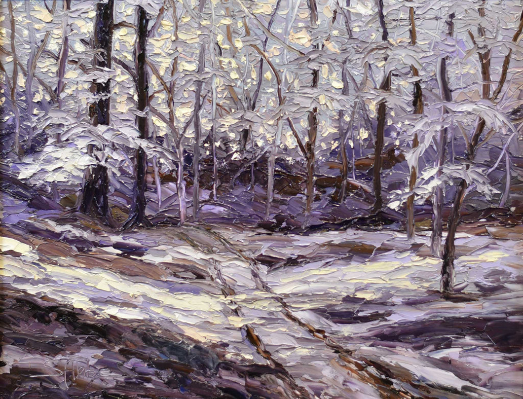 Painting: Patterns of Winter Artist: Susan Ahbe Medium: Oil   Size: 20