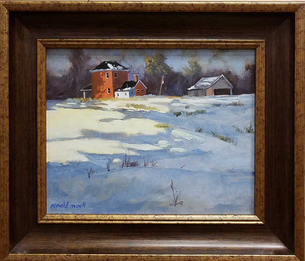 "Title: Peeking Thru Artist: Ronald P. Mack Medium: Oil  Size: 11"" x 14"", Framed"