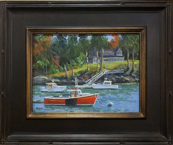 "Title: Red Lobster Artist: Douglas Runyan Medium: Acrylic  Size: 15"" x 18"", framed"