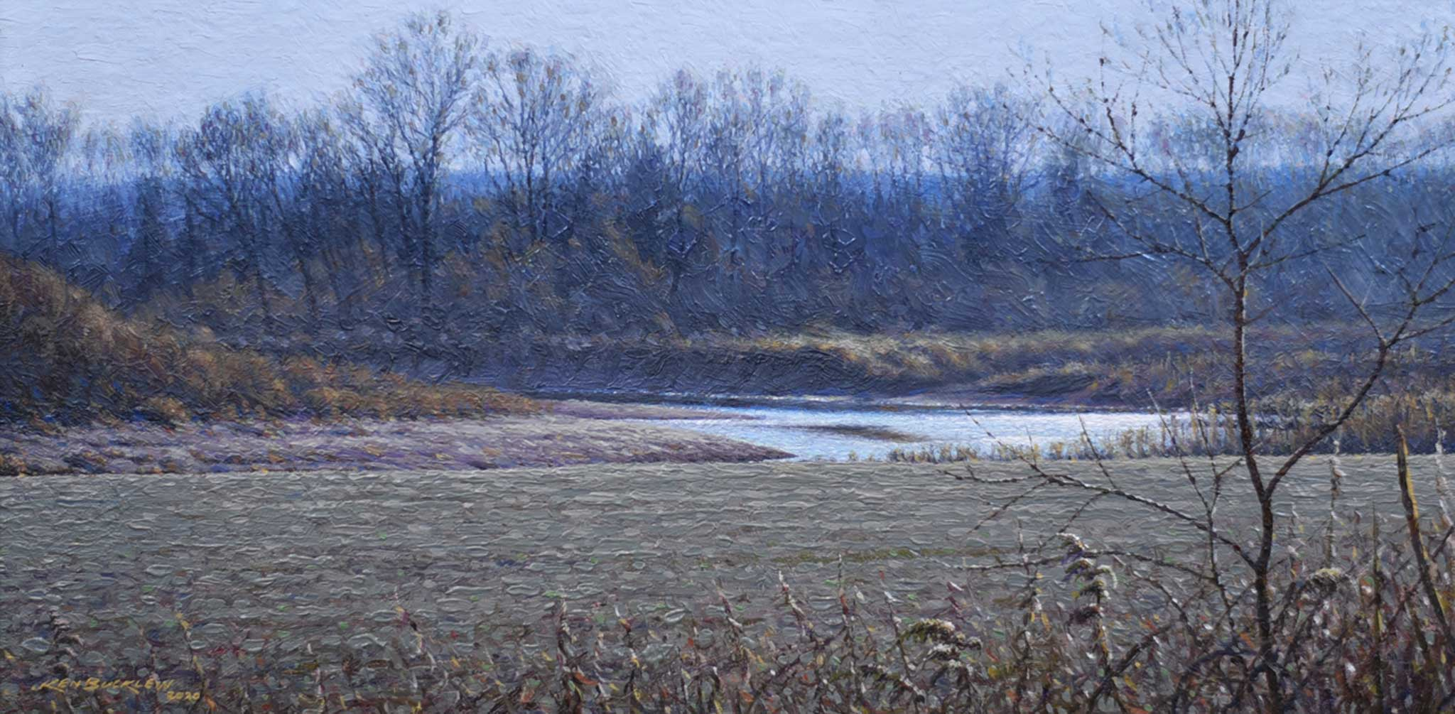 "Title: Riverbend Near Gosport Artist: Ken Bucklew Medium: Oil  Size: 12"" x 17"", framed"