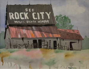 "Title: See Rock City Artist: Thomas Tuley Medium: Watercolor Size: 20"" x 23"", framed"
