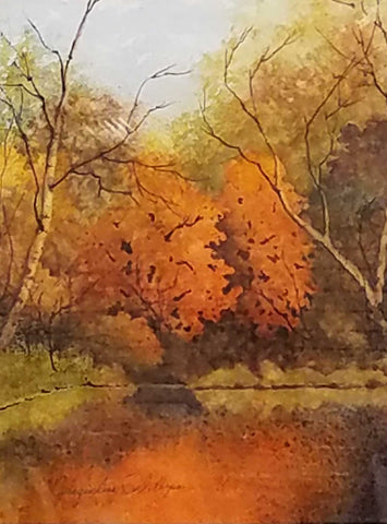 Painting: Sugar Maples Artist: Jacqueline Phillips Medium: Watercolor Size: framed