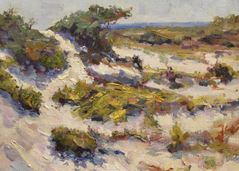 "Painting: Summer Snow Artist: Thomas A. Himsel Medium: Oil on Linen Size: 17 x 20"", framed"