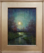 Load image into Gallery viewer, Title: Super Blue Blood Moon Artist: Karen Graeser Medium: Oil  Size: 24 x 18, framed
