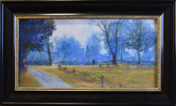 "Title: Winter Coral Artist: Pat Bardes Medium: Pastel  Size: 15"" x 24, framed"