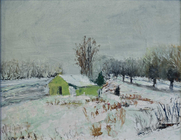 "Title: Winter in Brown County Artist: Rhonda Bontrager Medium: Oil Size: 8"" x 10"", Framed"